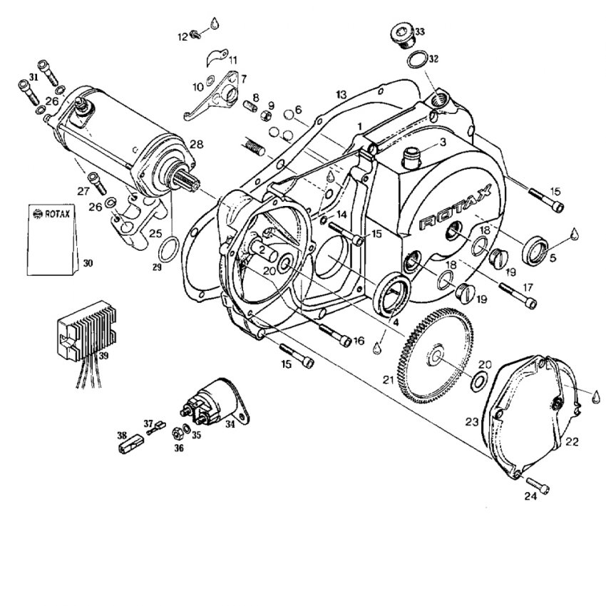 Rotax Motorcycle Engine Diagram Clutch
